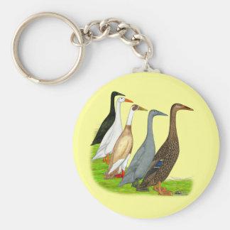 Surtido del pato del corredor llavero personalizado