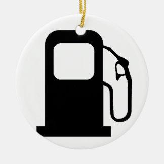Surtidor de gasolina adorno redondo de cerámica