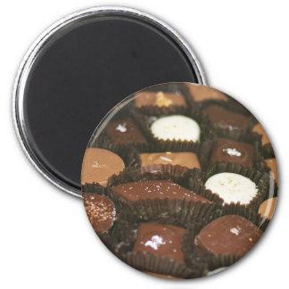 Surtidos del chocolate iman de nevera