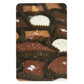 Surtidos del chocolate iman rectangular