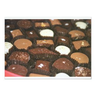 """Surtidos del chocolate invitación 5"""" x 7"""""""