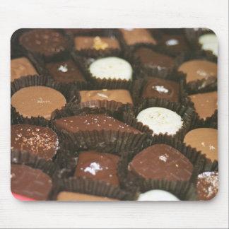 Surtidos del chocolate tapete de raton