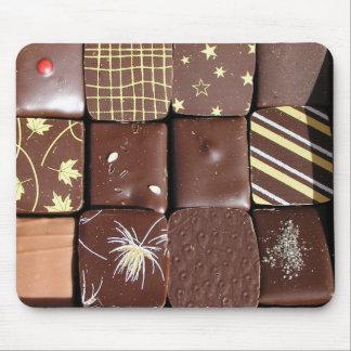 Surtidos del chocolate alfombrilla de raton
