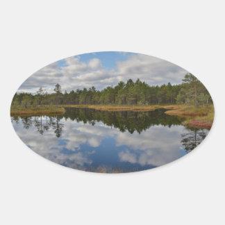Suru Bog, Põhja-Kõrvemaa Nature Reserve, Estonia Oval Sticker