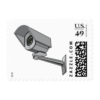 Surveillance Camera Security Safe Cartoon Stamp