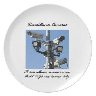 Surveillance Cameras Melamine Plate