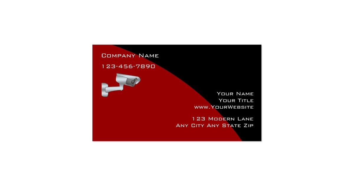 Surveillance security business cards zazzle for Cctv business card