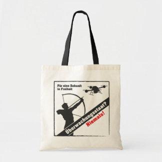 Surveillance state - no thanks! budget tote bag