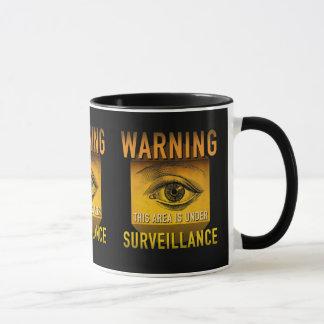 Surveillance Warning Big Brother Atomic Age Grunge Mug