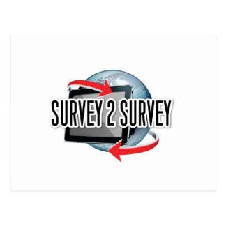 Survey2Survey genérico Tarjeta Postal