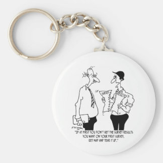 Survey Cartoon 7989 Keychain