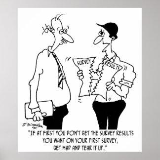 Survey Cartoon 7989 Poster