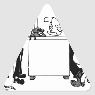 Survey Cartoon 7990 Triangle Sticker