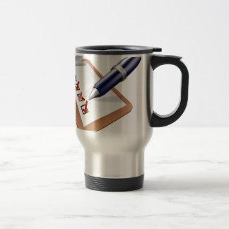 Survey clipboard and pen mug