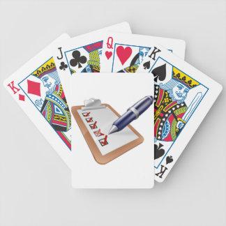 Survey clipboard and pen card decks