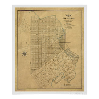 Survey of San Francisco by Michelin 1849 Poster