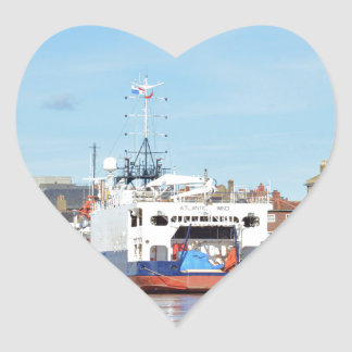 Survey Ship Atlantic Wind Heart Stickers