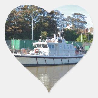 Survey Vessel Sea Mink Heart Sticker