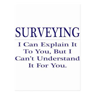 Surveying .. Explain Not Understand Postcard