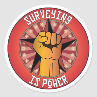 Surveying Is Power Classic Round Sticker