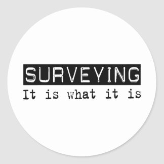 Surveying It Is Classic Round Sticker