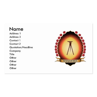 Surveying Mandorla Double-Sided Standard Business Cards (Pack Of 100)