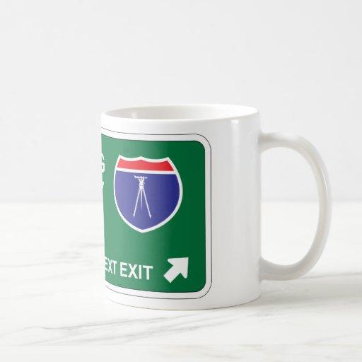 Surveying Next Exit Classic White Coffee Mug