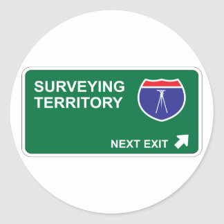 Surveying Next Exit Classic Round Sticker