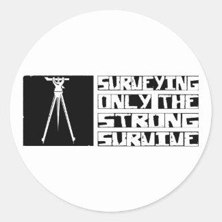 Surveying Survive Classic Round Sticker