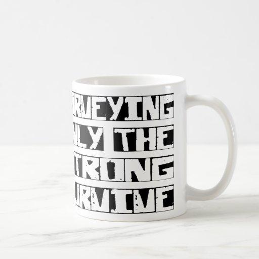 Surveying Survive Classic White Coffee Mug