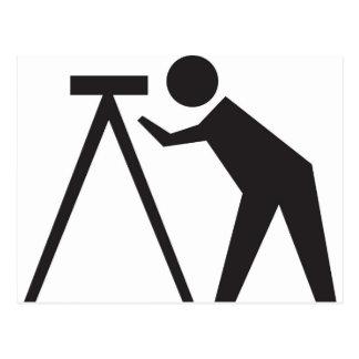 Surveyor at Work Postcard