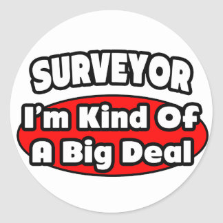 Surveyor Big Deal Round Stickers