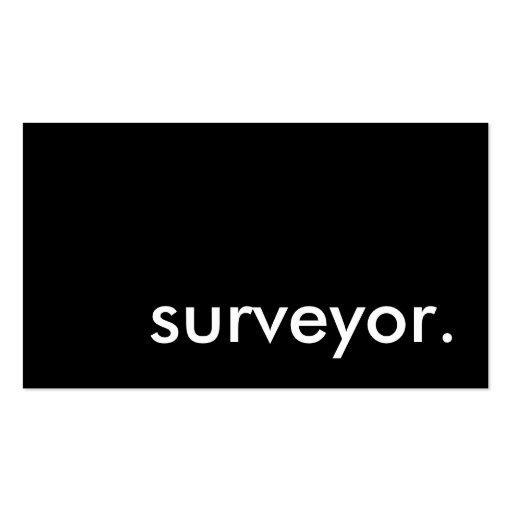 surveyor. business card template