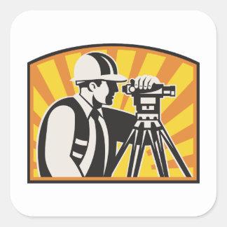 Surveyor Engineer Theodolite Total Station Retro Stickers