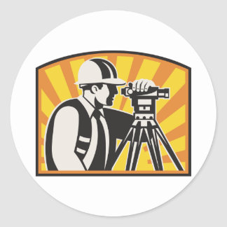Surveyor Engineer Theodolite Total Station Retro Sticker