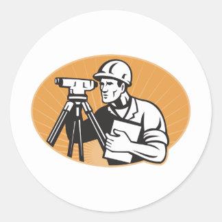 Surveyor Engineer Theodolite Total Station Stickers
