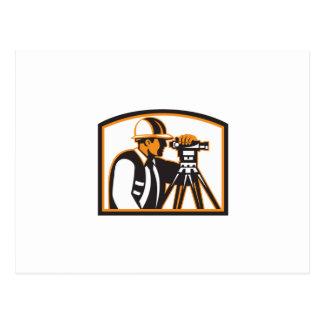 Surveyor Geodetic Engineer Survey Theodolite Postcard