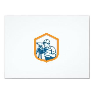 Surveyor Geodetic Engineer Survey Theodolite Shiel 17 Cm X 22 Cm Invitation Card