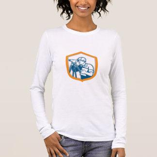 Surveyor Geodetic Engineer Survey Theodolite Shiel Long Sleeve T-Shirt
