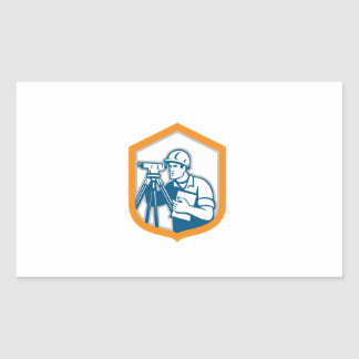 Surveyor Geodetic Engineer Survey Theodolite Shiel Rectangular Sticker