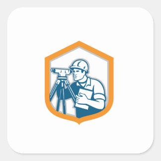 Surveyor Geodetic Engineer Survey Theodolite Shiel Square Sticker