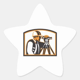 Surveyor Geodetic Engineer Survey Theodolite Star Stickers