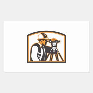 Surveyor Geodetic Engineer Survey Theodolite Rectangle Stickers