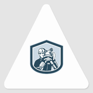 Surveyor Surveying Theodolite Shield Retro Triangle Sticker