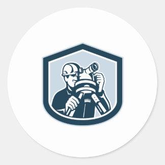 Surveyor Surveying Theodolite Shield Retro Stickers