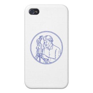 Surveyor Theodolite Circle Mono Line iPhone 4/4S Cover