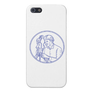Surveyor Theodolite Circle Mono Line iPhone SE/5/5s Case