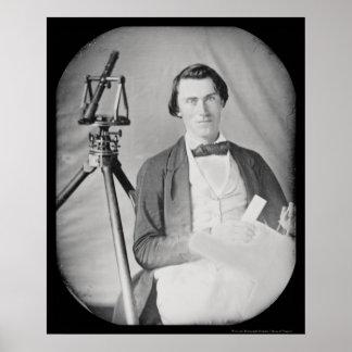 Surveyor & Tools Daguerreotype 1848 Poster