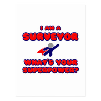 Surveyor .. What's Your Superpower? Postcard