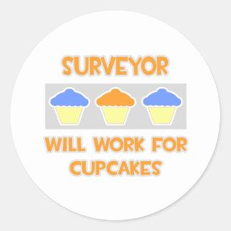 Surveyor Will Work For Cupcakes Sticker